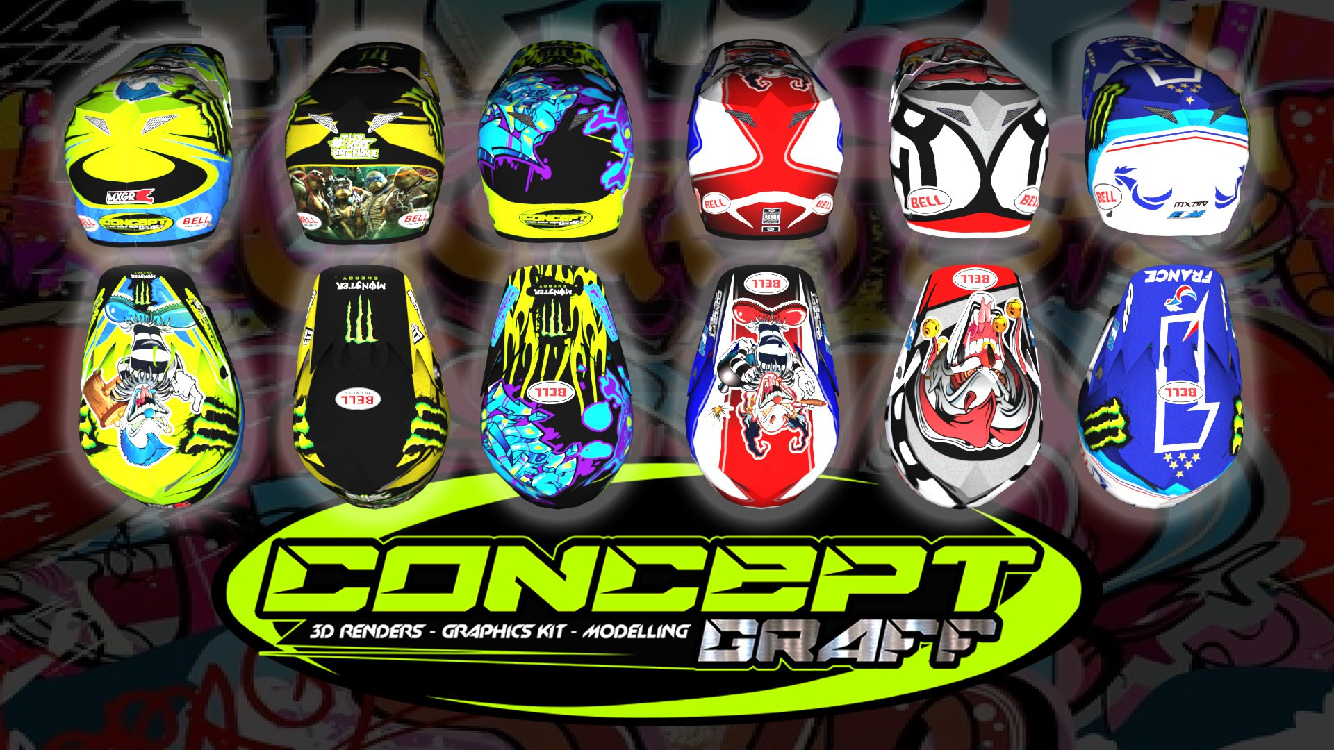 2019 Bell custom pack ConceptgraffMXS ( new insane model base )