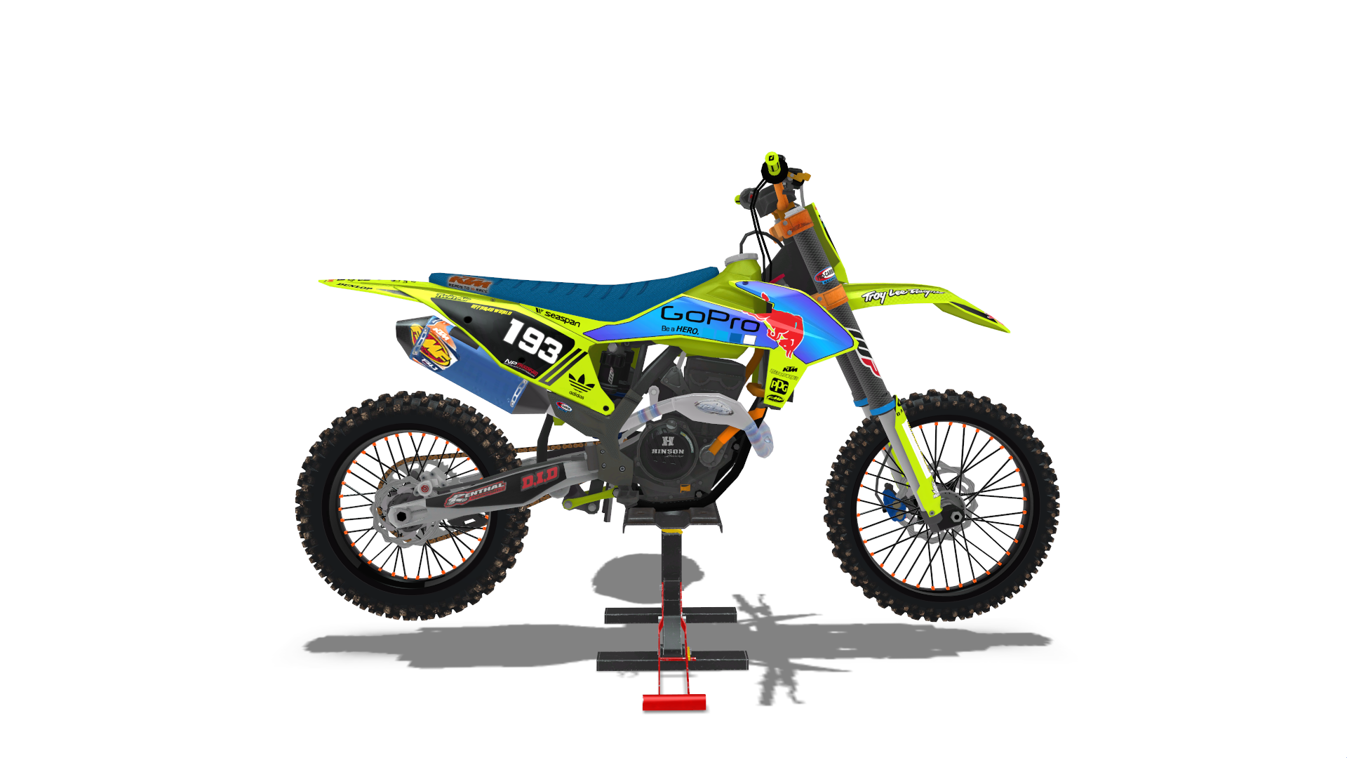 LME designs 2021 ktm (fluo yellow) 450+250