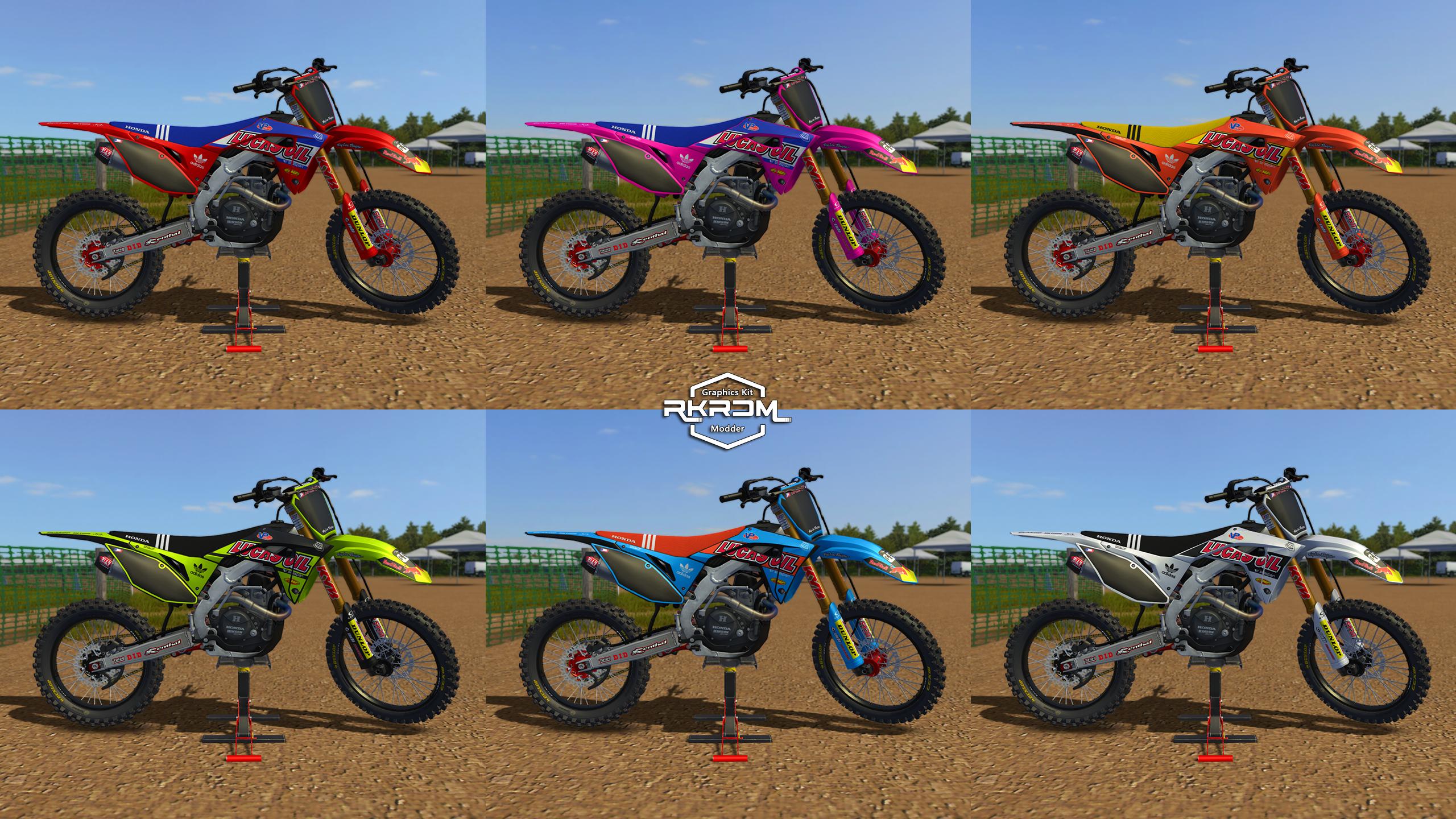 2020 Honda CRF250 – LucasOil Graphics