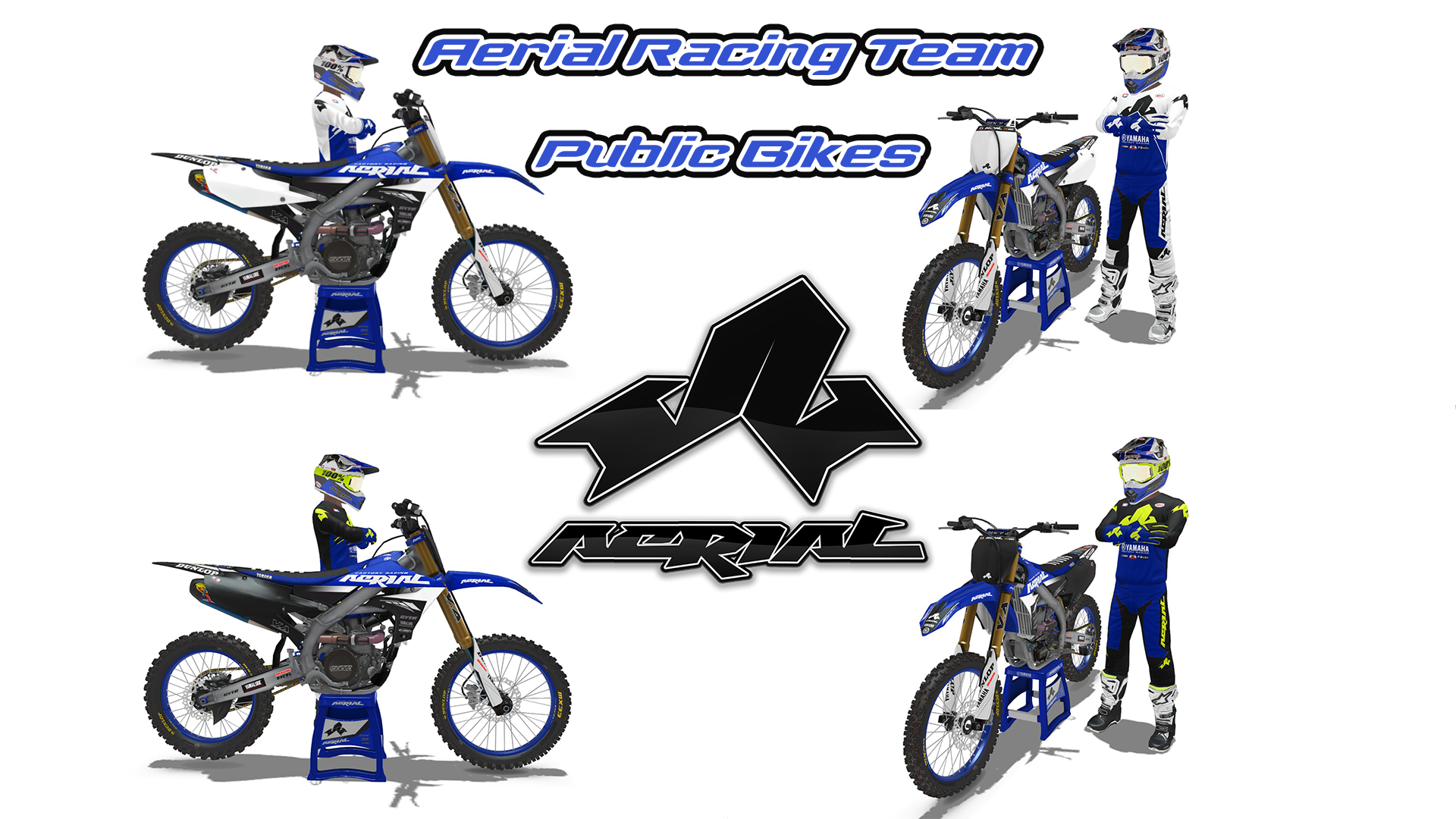 2021 Aerial Yamaha Racing Team PUBLIC BIKES